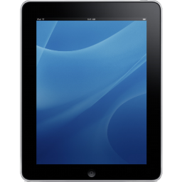 Tablet ipad front blue computer hardware background