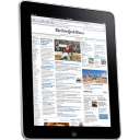 Ipad newspaper side news computer tablet hardware movie