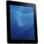 Ipad side tablet computer blue hardware background