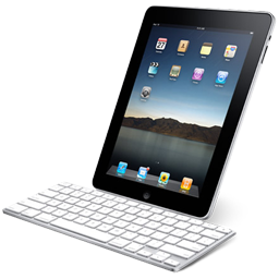 Tablet ipad with computer keyboard hardware iphone