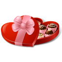 Heartshaped candybox
