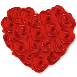 Love Roses and Hearts