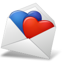 Heart mailenvelope hearts bluered valentine favourite love fav