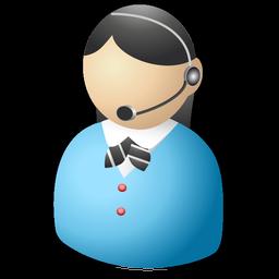 Receptionist Operator / Standard Portfolio / 128px / Icon Gallery: icongal.com/gallery/icon/56746/128/receptionist_operator