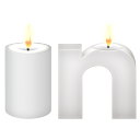 Linkedin social logo white candles candles