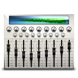 Audio mixing desk desktop