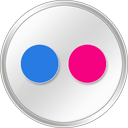 Flickr white social logo