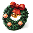 Christmas wreath seenty two pixel