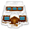 Home house with snow building weather christmas