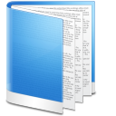 Blue folder file document doc paper