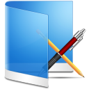 Folder blue app application software apps