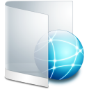 Folder white internet network