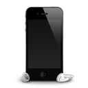 Iphone mobile cell cellphone telephone phone shadow headphones call contact