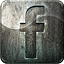 Engraved social media facebook highlight metal grunge
