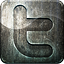 Highlight social media twitter grunge metal engraved