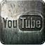 Engraved youtube grunge social media highlight metal