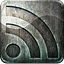 Grunge highlight rss metal social media engraved