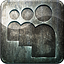 Social media myspace grunge highlight metal engraved