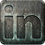 Linkedin social media grunge engraved nonhighlight metal