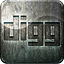 Highlight grunge social media digg engraved metal