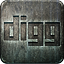 Social media grunge nonhighlight digg engraved metal
