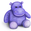 Rhino teddy toy bear