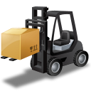 Loaded forklifttruck