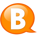 Speech balloon orange