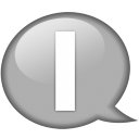 Speech balloon white