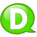 Speech balloon green