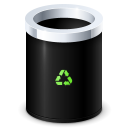 Trash bin empty recycle erase full