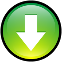 Button download down decrease green music arrow
