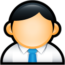 Customer user person admin blue administrator face