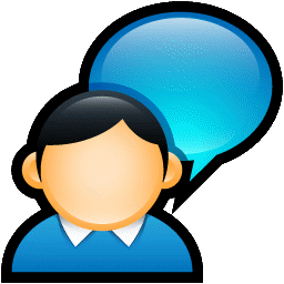 Chat Person Customer User Face Social Logo Online Soft Scraps 128px Icon Gallery