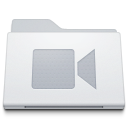 Video film movie folder movies white