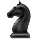 Chess game knight chess icon