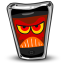 Iphone mobile angry cellphone cell phone call telephone contact