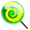 Candy green lolipop