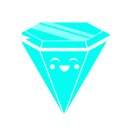 Blue rave diamond