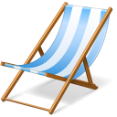 Beach summer vacation chair