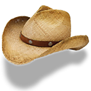 Hat cowboy straw boots