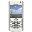 Pearl blackberry cell white mobile cellphone telephone call phone contact