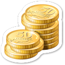 Dollar money coins cash bank finance shopping business