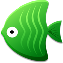 Green fish animal