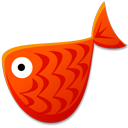 Red fish animal mail