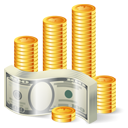 Money cash dollar coins bank finance business shopping oli education