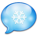 Xmas chat social logo speech bubble