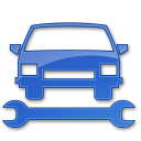 Repair auto car vehicle blue transport deawoo