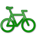 Bicycle green car