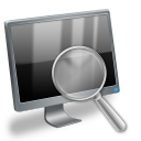 Loupe magnifier magnify magnifying search zoom find glass computer look eye hardware